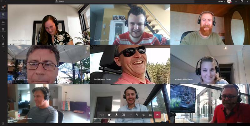 Online meeting met het team van Incrius